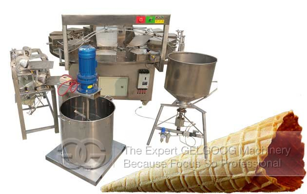 Chocolate Sugar Cone Baking Machine Commercial Use