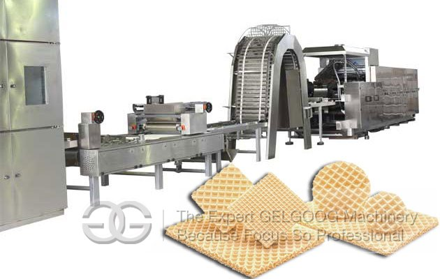 Automatic Flat Wafer Biscuit Production Equipment 150KG/H