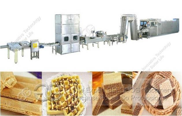 the wafer biscuit production line
