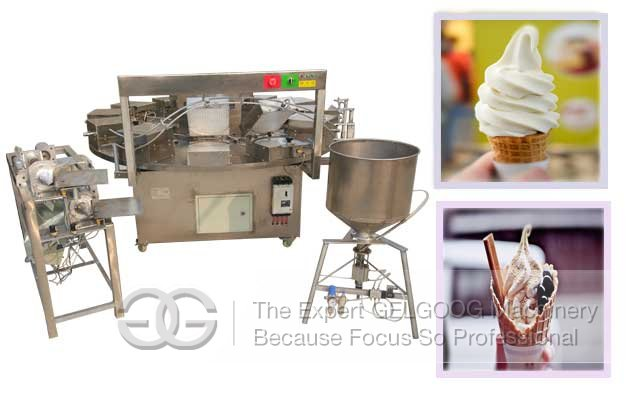 China Sugar Ice Cream Cone Baking Machine Manufacturer