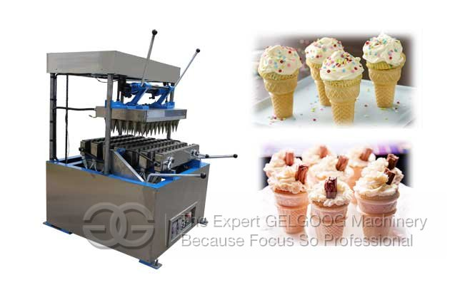 wafer cone making machine production video