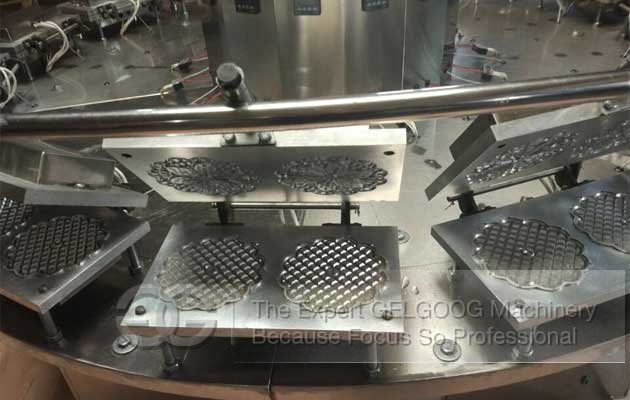 Italian waffle cookies making machine
