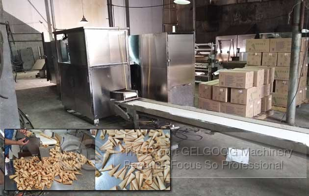automatic ice cream cone processing line