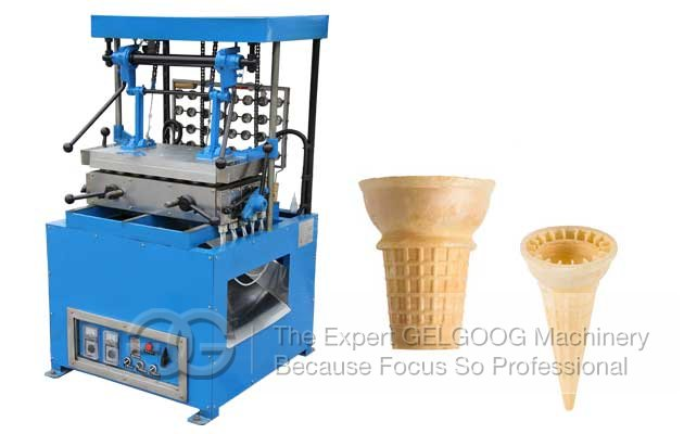 machine manufacturing ice cream cones